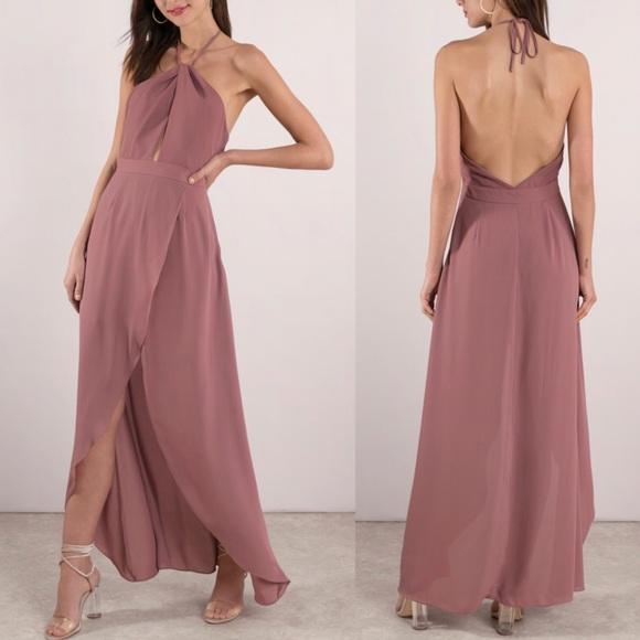 c3ea3aa5a09 Tobi Patti Mauve Maxi Dress. M 5b79d7148158b5f1a3129d53
